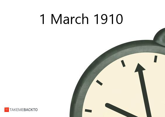 Tuesday March 01, 1910