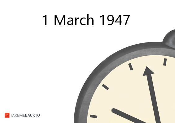 Saturday March 01, 1947