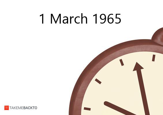 March 01, 1965 Monday