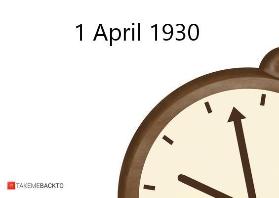 Tuesday April 01, 1930