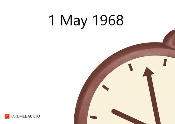 Wednesday May 01, 1968