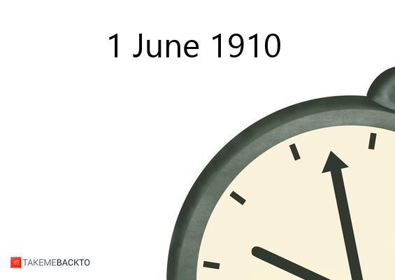 June 01, 1910 Wednesday