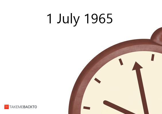 Thursday July 01, 1965