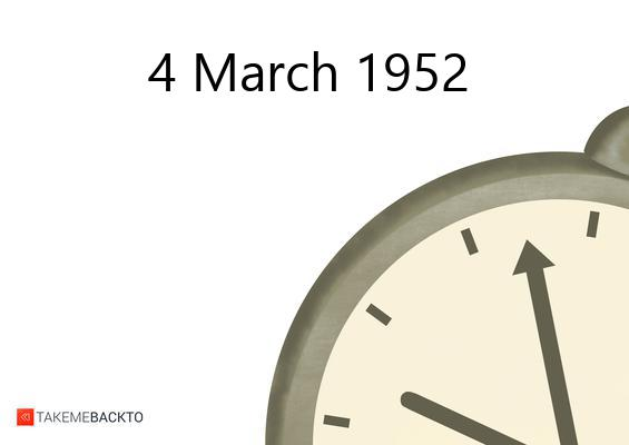 March 04, 1952 Tuesday