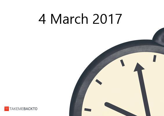 Saturday March 04, 2017