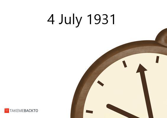 July 04, 1931 Saturday