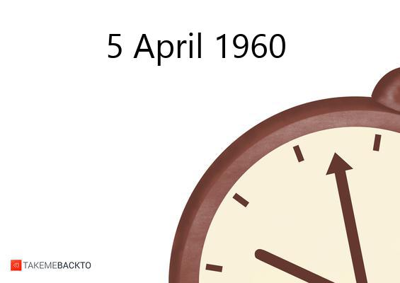 Tuesday April 05, 1960