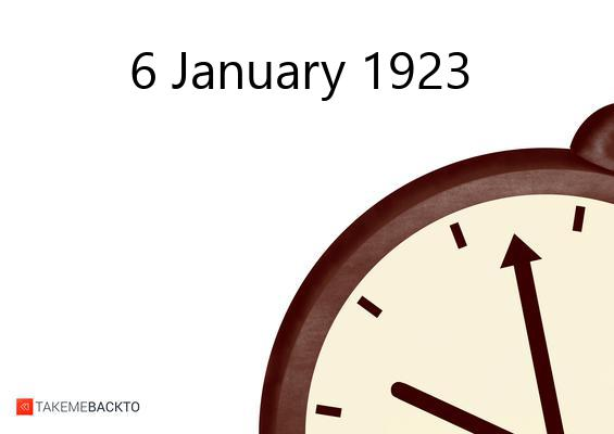 January 06, 1923 Saturday