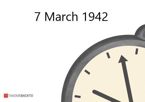 Saturday March 07, 1942