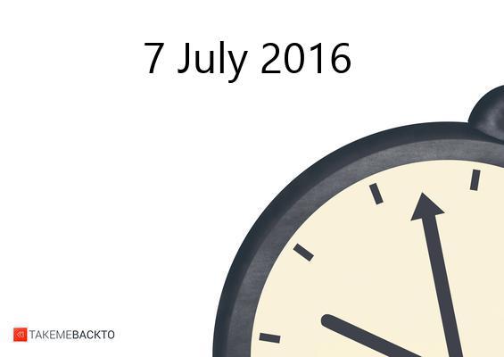 Thursday July 07, 2016