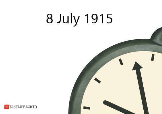 July 08, 1915 Thursday