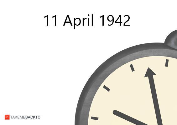 Saturday April 11, 1942
