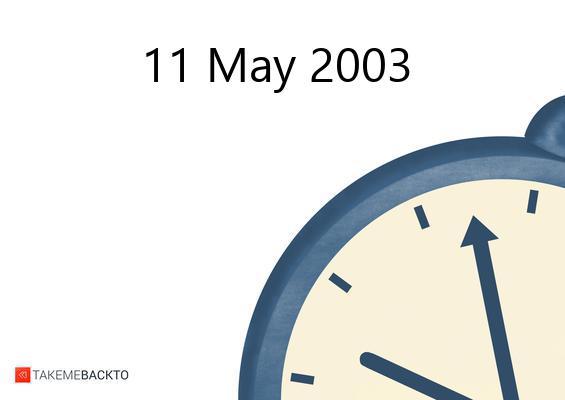 May 11, 2003 Sunday