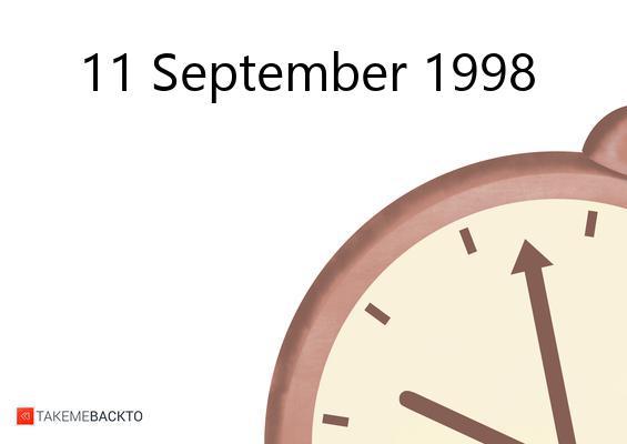 September 11, 1998 Friday