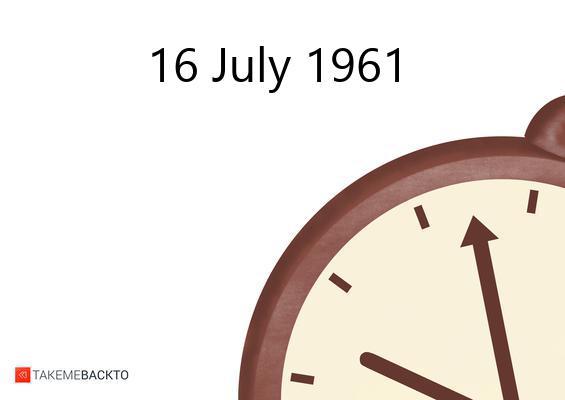 July 16, 1961 Sunday