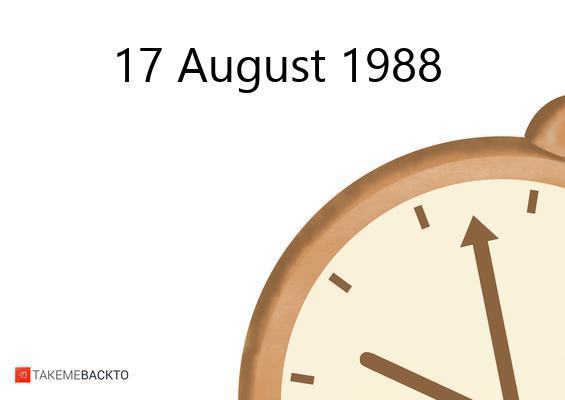 August 17, 1988 Wednesday
