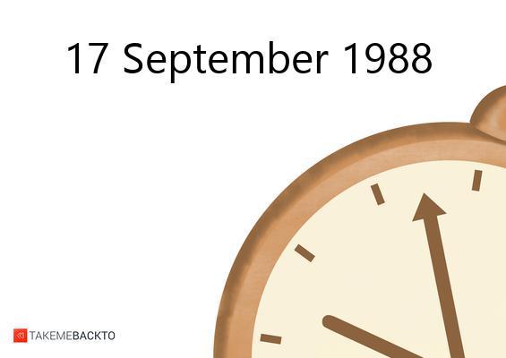 Saturday September 17, 1988