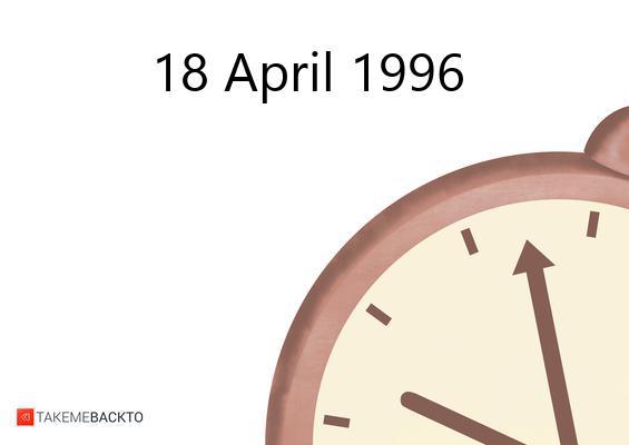 April 18, 1996 Thursday