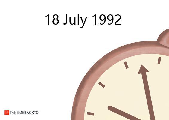 July 18, 1992 Saturday