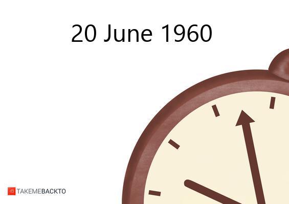 June 20, 1960 Monday