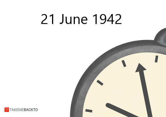 June 21, 1942 Sunday