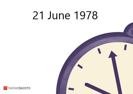 June 21, 1978 Wednesday