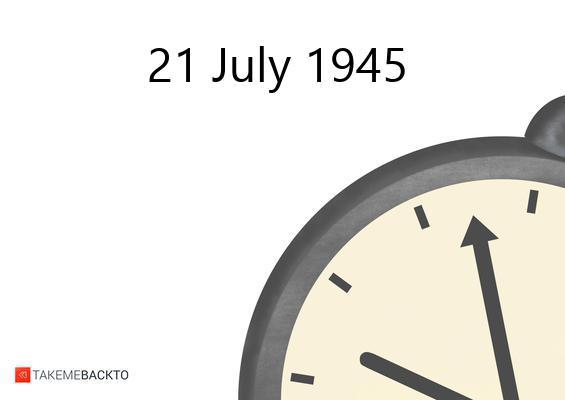Saturday July 21, 1945