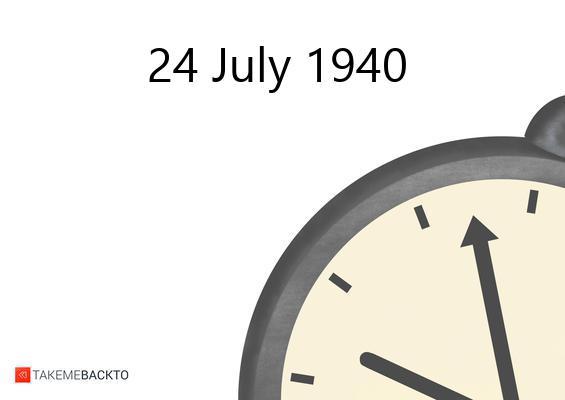 July 24, 1940 Wednesday