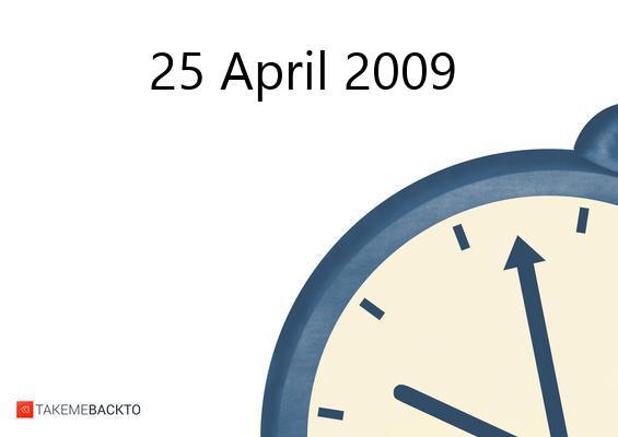 Saturday April 25, 2009