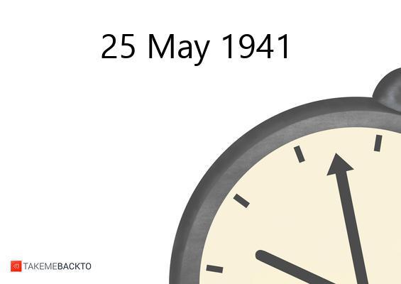 May 25, 1941 Sunday