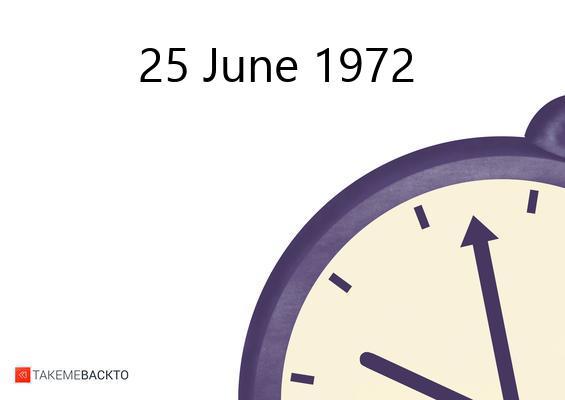 June 25, 1972 Sunday