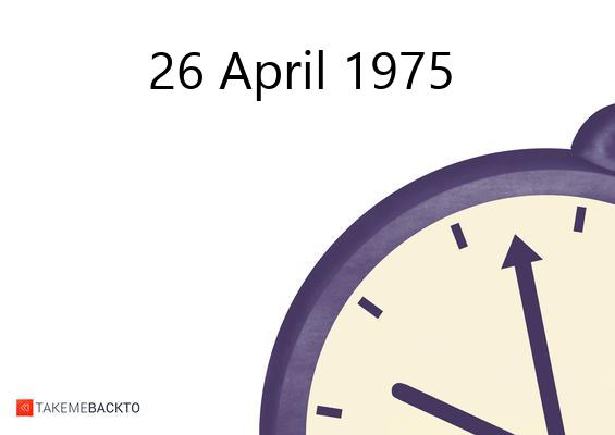 April 26, 1975 Saturday