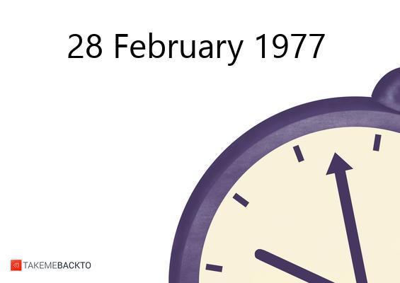 Monday February 28, 1977