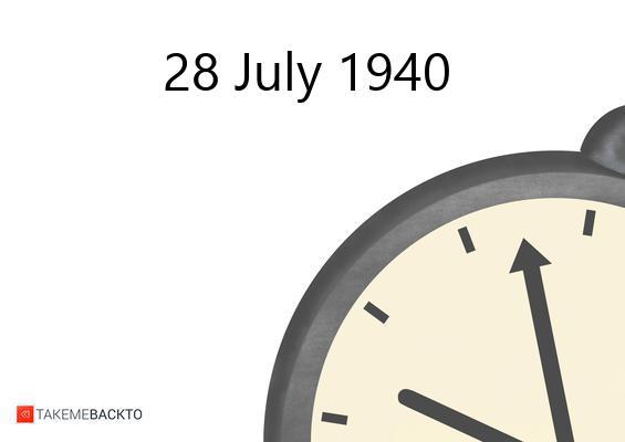 July 28, 1940 Sunday