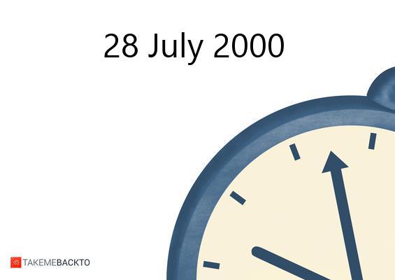 Friday July 28, 2000