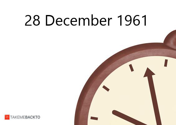 December 28, 1961 Thursday